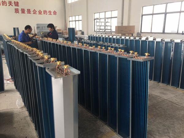揚子江空調風機盤管(表冷器)生產現場